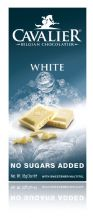 Cavalier No added Sugar Belgian White Chocolate Bar 85g